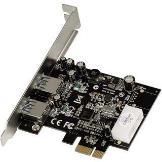 Hama 53121 2 Port PCIe 2.0 x1 inkl. Low Profile Slotblech retail