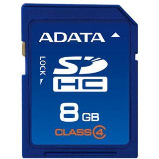 8 GB ADATA Standard SDHC Class 4 Retail