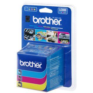 Brother Tinte LC-900RBWBP cyan/magenta/gelb