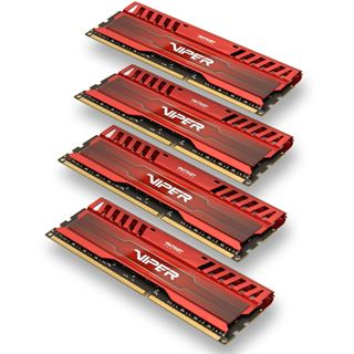 16GB Patriot Viper 3 Series Venom Red DDR3-1600 DIMM CL9 Quad Kit