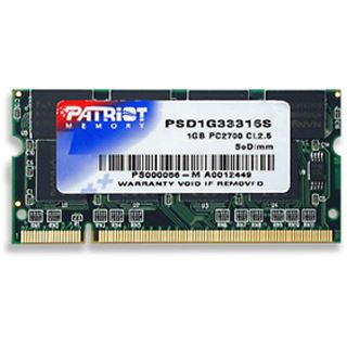 1GB Patriot Signature DDR-333 SO-DIMM CL2.5 Single
