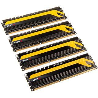 16GB Avexir Core Series blaue LED DDR3-2400 DIMM CL10 Quad Kit