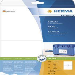 Herma 5064 Premium Universal-Etiketten 21x14.8 cm (25 Blatt (25 Etiketten))