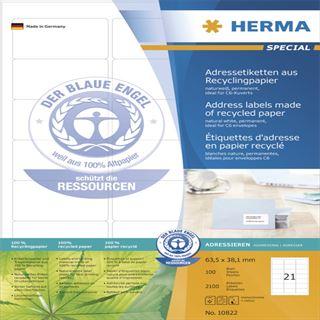 Herma 10820 Adressetiketten 6.35x3.81 cm (100 Blatt (2100 Etiketten))