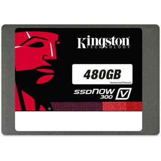"480GB Kingston SSDNow V300 2.5"" (6.4cm) SATA 6Gb/s MLC (SV300S37A/480G)"