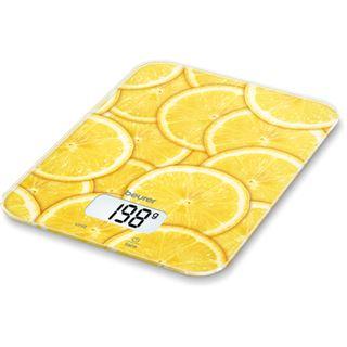 Beurer Küchenwaage LCD-Display KS 19 lemon