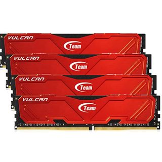 32GB TeamGroup Vulcan Series rot DDR4-2800 DIMM CL16 Quad Kit