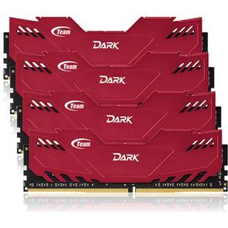 16GB TeamGroup Dark Series rot DDR4-3000 DIMM CL16 Quad Kit