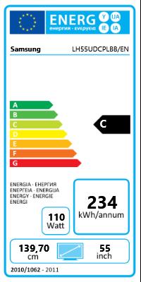 "55"" (139,70cm) Samsung LH55UDCPLBB/EN schwarz 1920x1080 2xHDMI 1.3/1xVGA/1xDVI/Component-Eingang (Y/Pb/Pr) /1xComposite Video/2xDisplayPort 1.2"