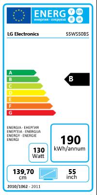 "55"" (139,70cm) LG Electronics 55WS50BS-B schwarz 1920x1080 1xHDMI 1.3/1xVGA/1xDVI/1xDP/1xKomponenten (YUV)/1xComposite/seriell"
